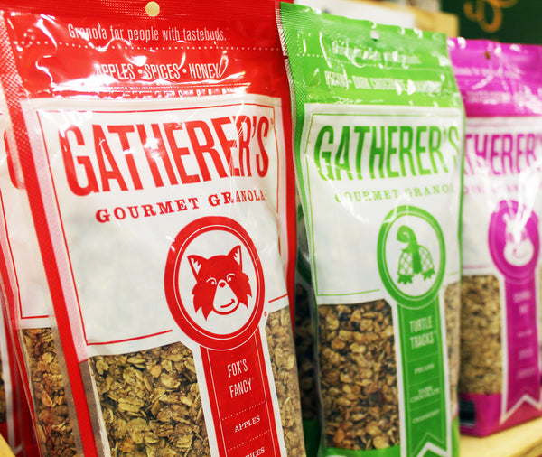 Gatherer's products on shelf