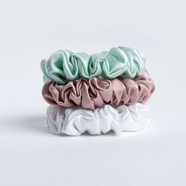 Silk Scrunchie - White