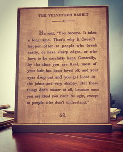 The Velveteen Rabbit....(X-Large)