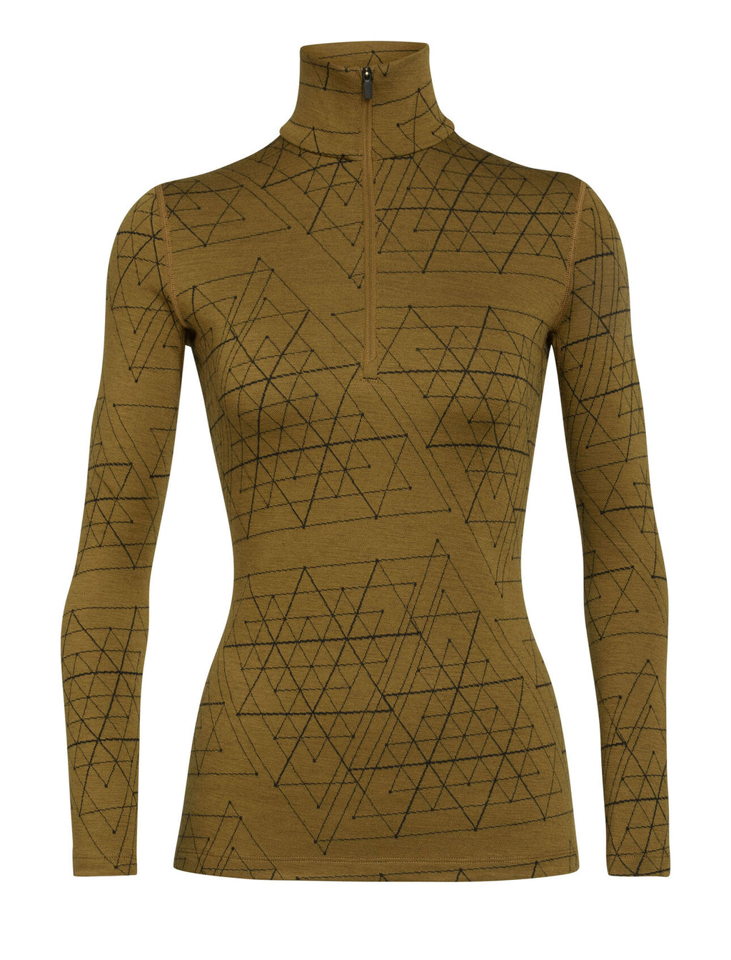 Women's Merino 250 Vertex Long Sleeve Half Zip Thermal Top Ice Structure