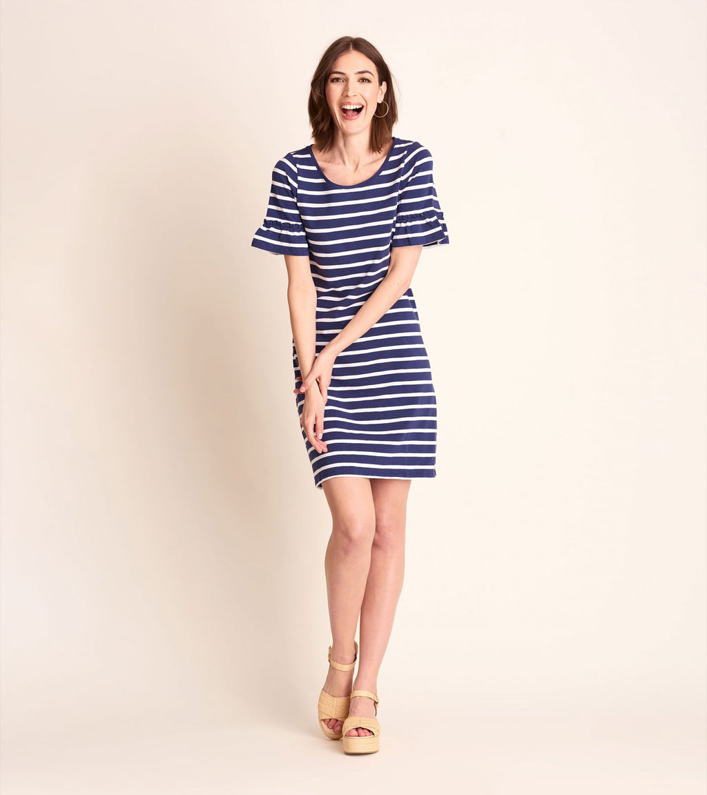 Kelli Dress - Blue Stripes