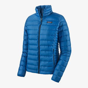 Women's Down Sweater Jacket - Alpine Blue