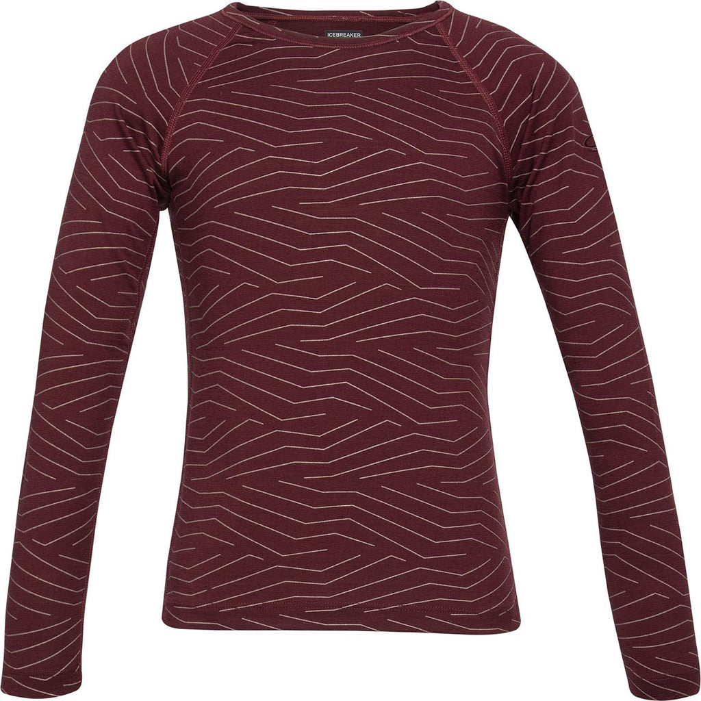 Kids Merino 200 Oasis Long Sleeve Crew - Redwood