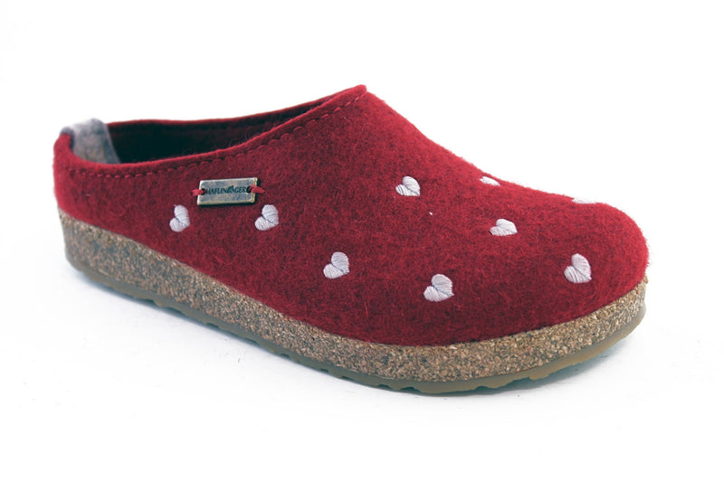 Haflinger Clogs Sweetheart  Red