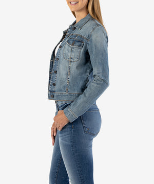 Amelia Jean Jacket - Kut from the Kloth denim (liberal wash medium)