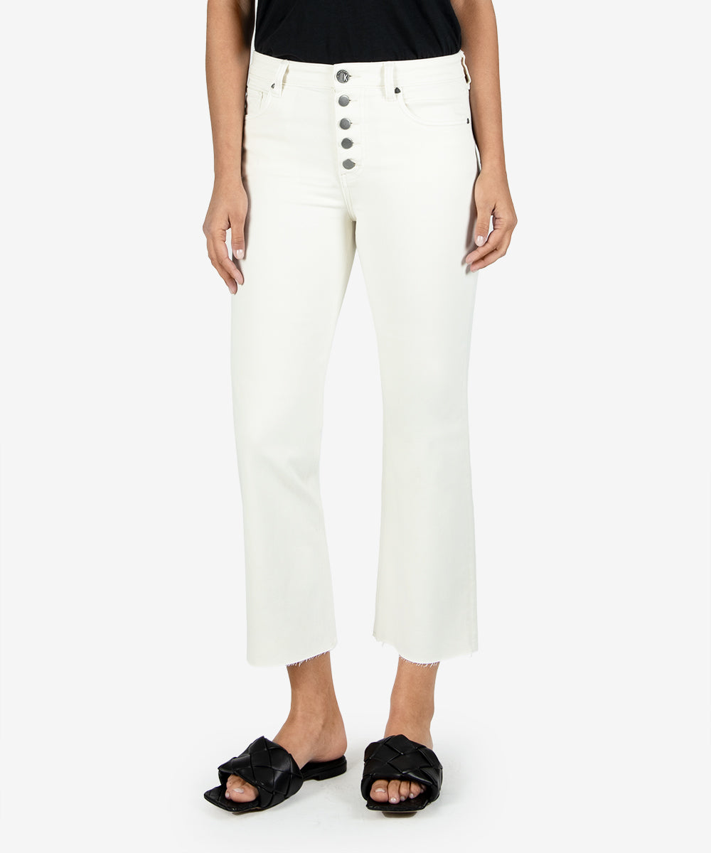 Kelsey High Rise Crop Straight Leg - Ecru