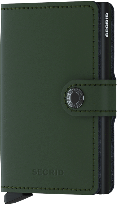 Secrid Miniwallet - Matte Green/Black