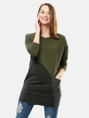 Mynx Colour Block Pocket Tunic