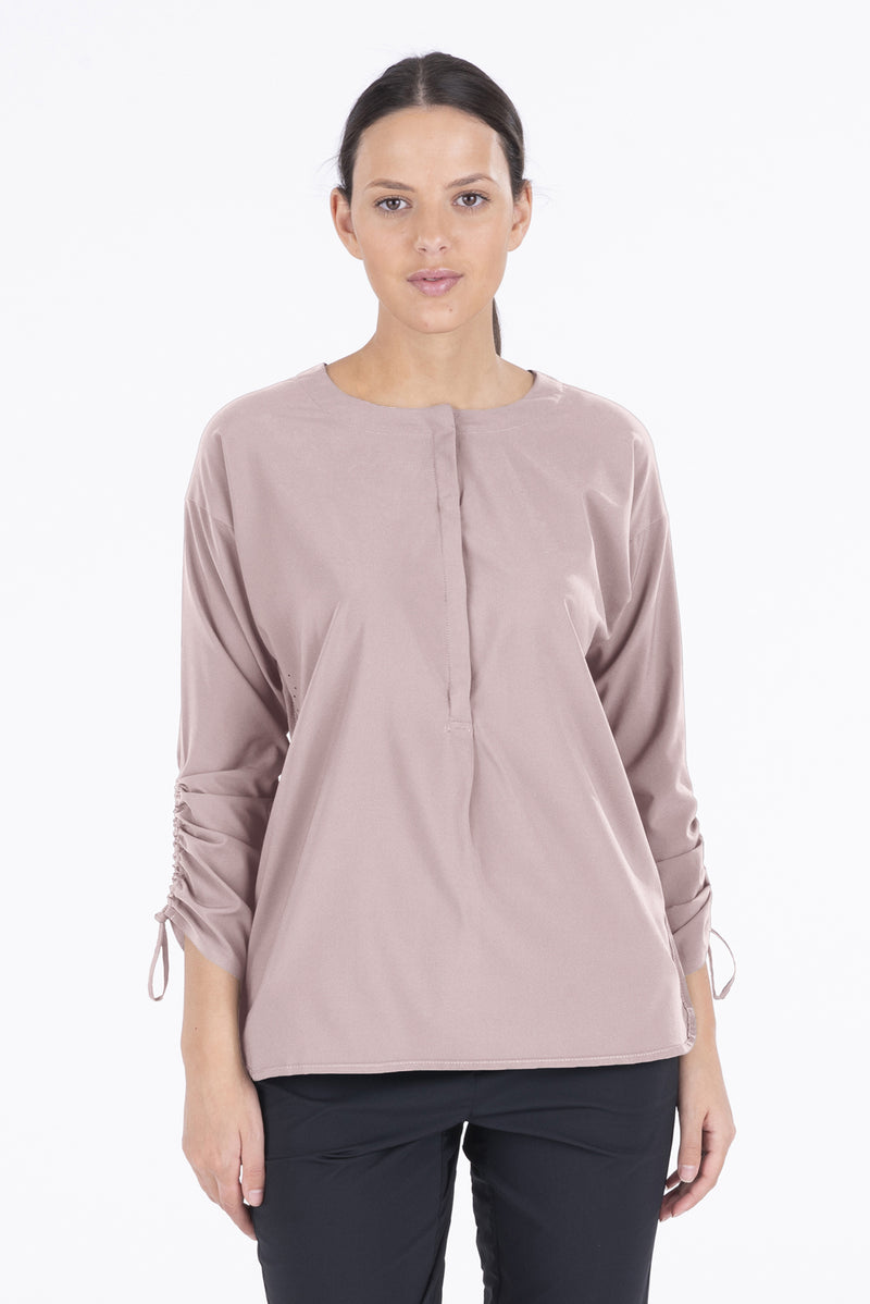 Oriana - Light Woven Mix Long Sleeve Shirt
