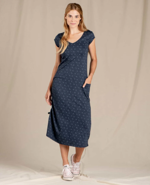 Samba Muse Dress - True Navy Geo