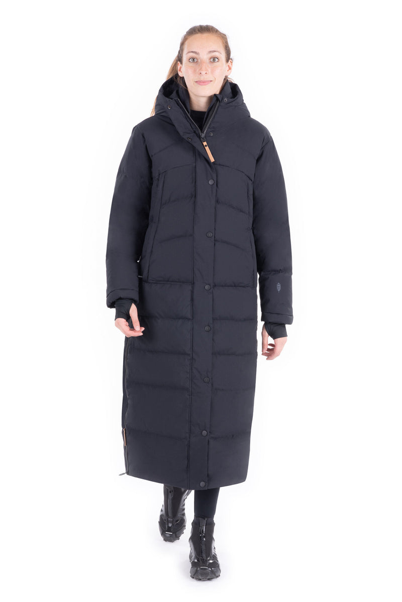 Vanamo - Extra Long Down Blend Coat - Black