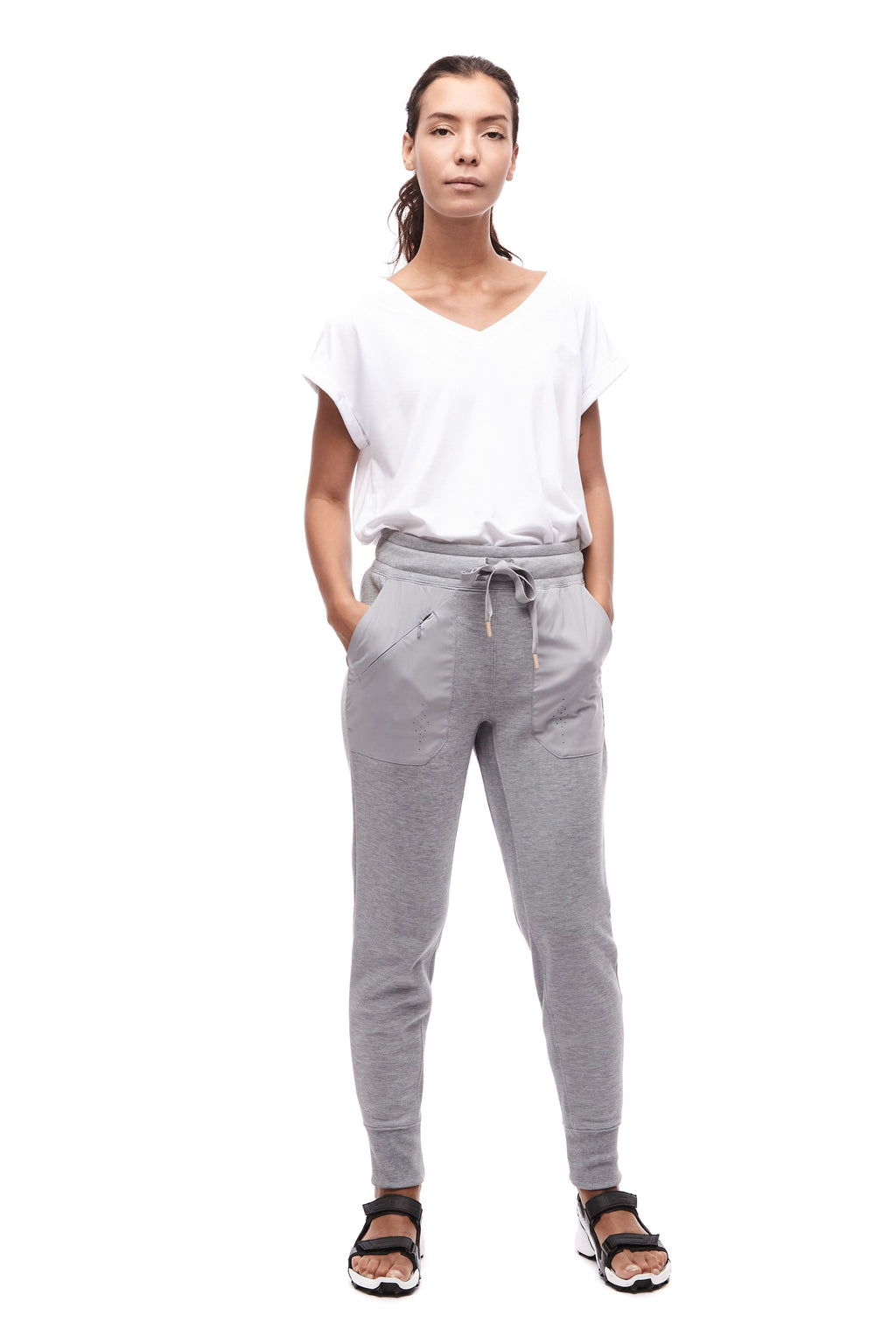 VIENO III - French Terry Jogger Pant - Grey