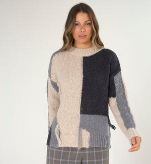 Chunky Block Colour Sweater