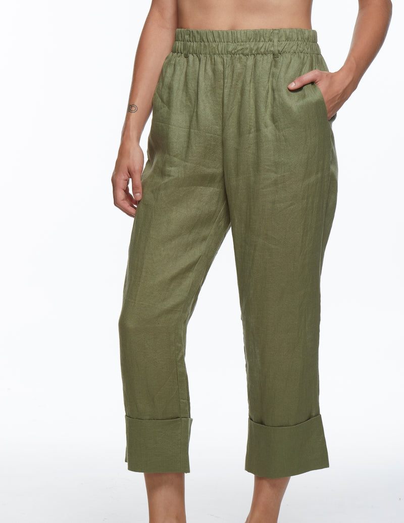 Cuff Pant - Watercress