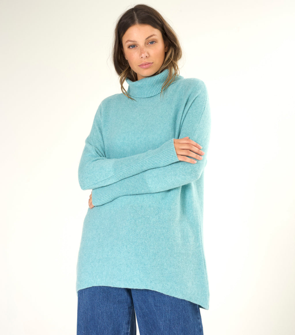 Batwing Roll Neck Sweater
