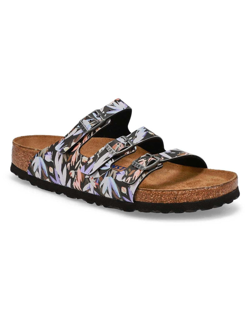 Florida Fresh Soft footbed Birko Flor Floral Fade Black