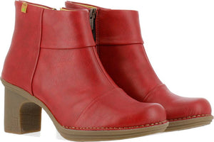 N5401T Red Heeled Ankle Boots Dovela