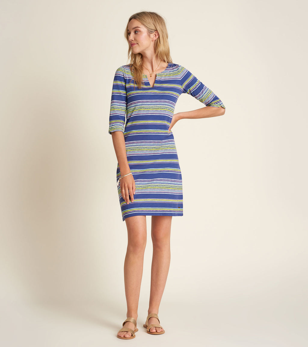 Lucy Dress - Textured Stripes
