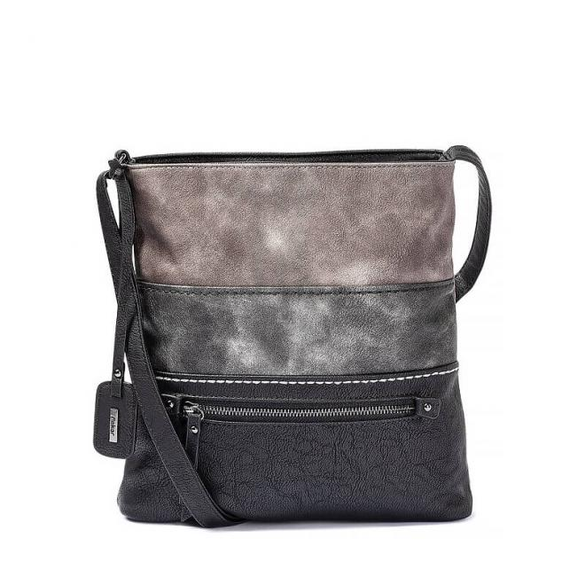 Reiker Black Gray Stripe Bag