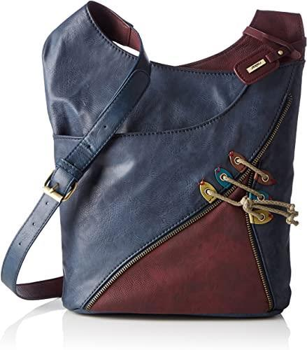 Reiker Navy Maroon Zipper Bag