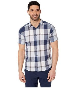 Men's Sawtooth Plaid SS - Blue