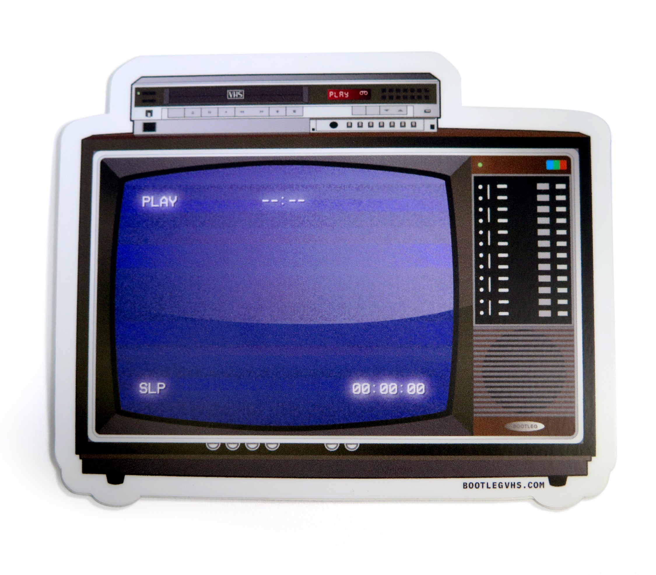 Sticker - 80's TV-VCR Combo Model 1