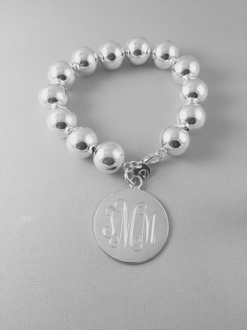 14mm Beaded Bracelet with Tag