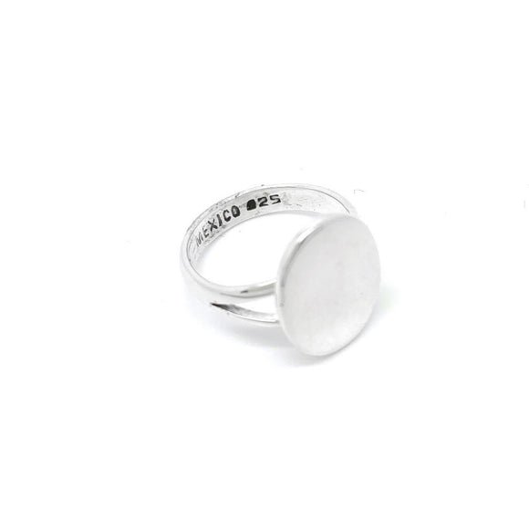 Sterling Silver Oval Monogram Ring