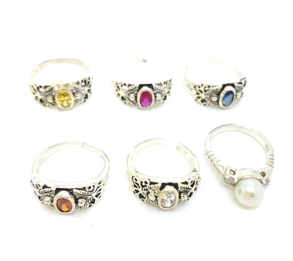Sterling Silver Children's Birthstone Ring