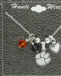 CLEMSON CHARM NECKLACE