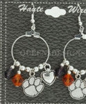 CLEMSON CHARM EARRINGS