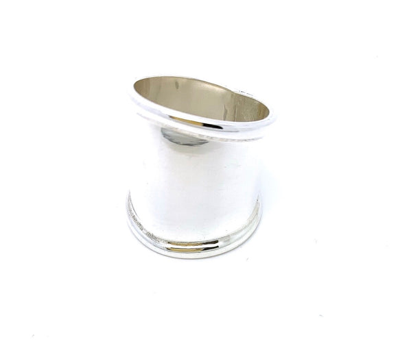 Sterling Silver Rimmed Cigar Band