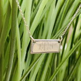 Gold Plated Sterling Silver Mini Name Plate Necklace