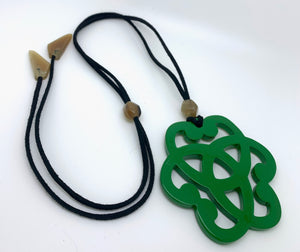 Green Horn Necklace