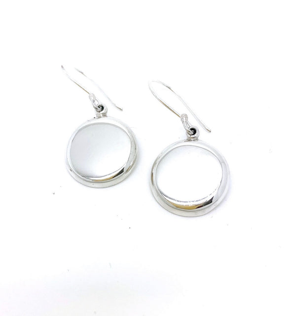 Sterling Silver Round Domed Earrings