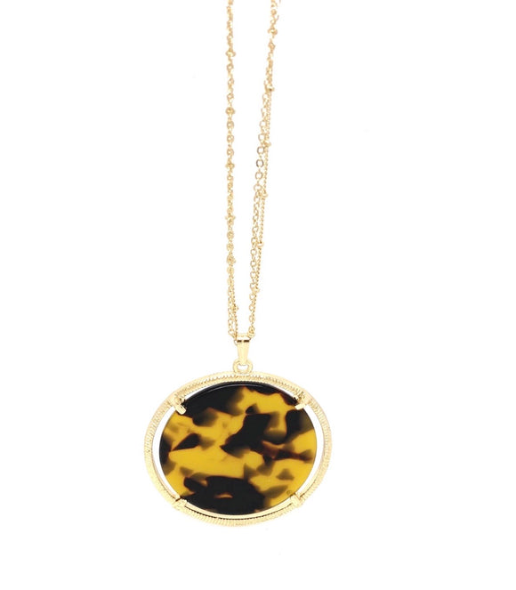Tortoise Medallion Necklace