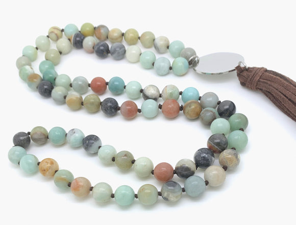 Mixed Agate Bead Necklace