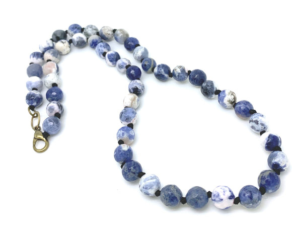Blue Sodalite Bead Necklace