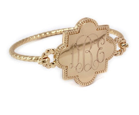 Copy of Quatrefoil  Bracelet - Gold Tone