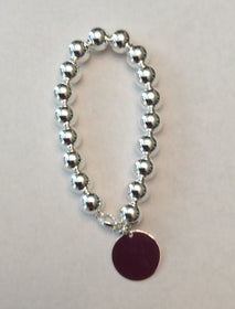 8mm Beaded Bracelet with Tag