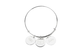Mothers Bangle Bracelet With Customized Disks