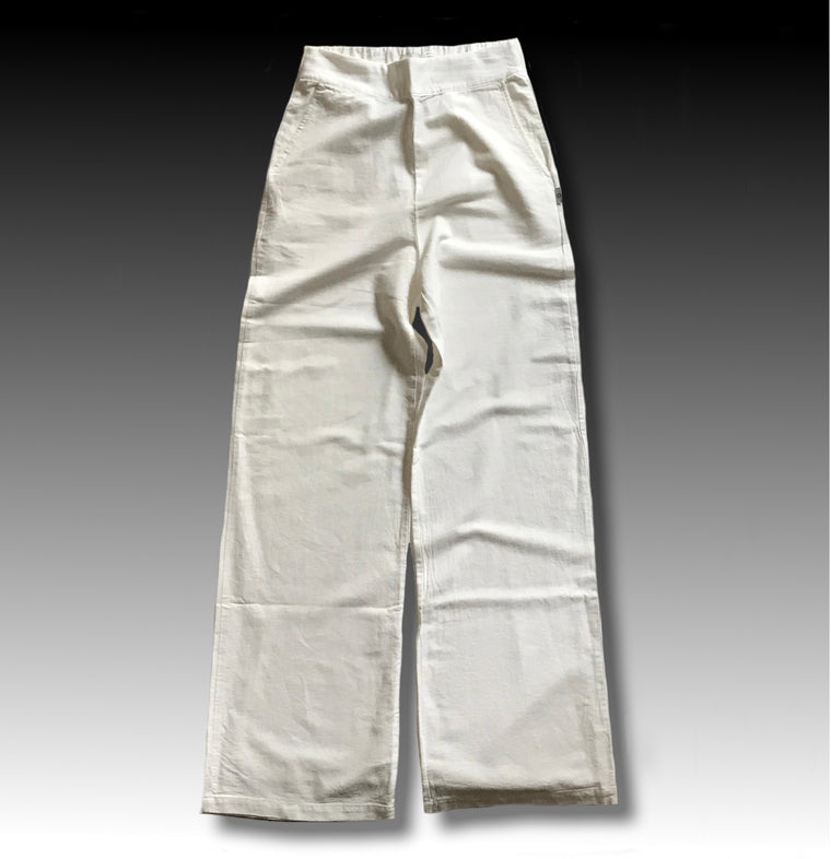 CLASSIC WIDE LEG PANT WHITE