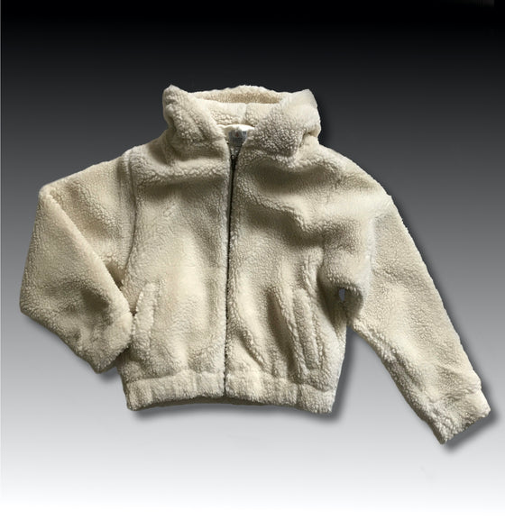 SEDONA SHERPA HOODED JACKET VINTAGE WHITE