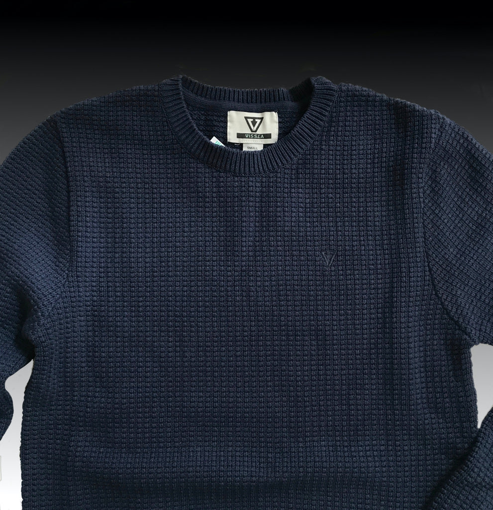 Dunnet Upcycled Sweater Drk naval