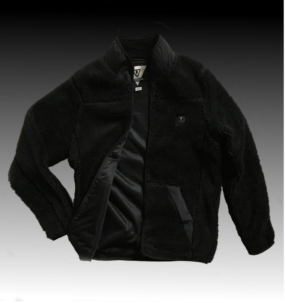 DONOMA HIGH PILE SHERPA FLEECE BLACK