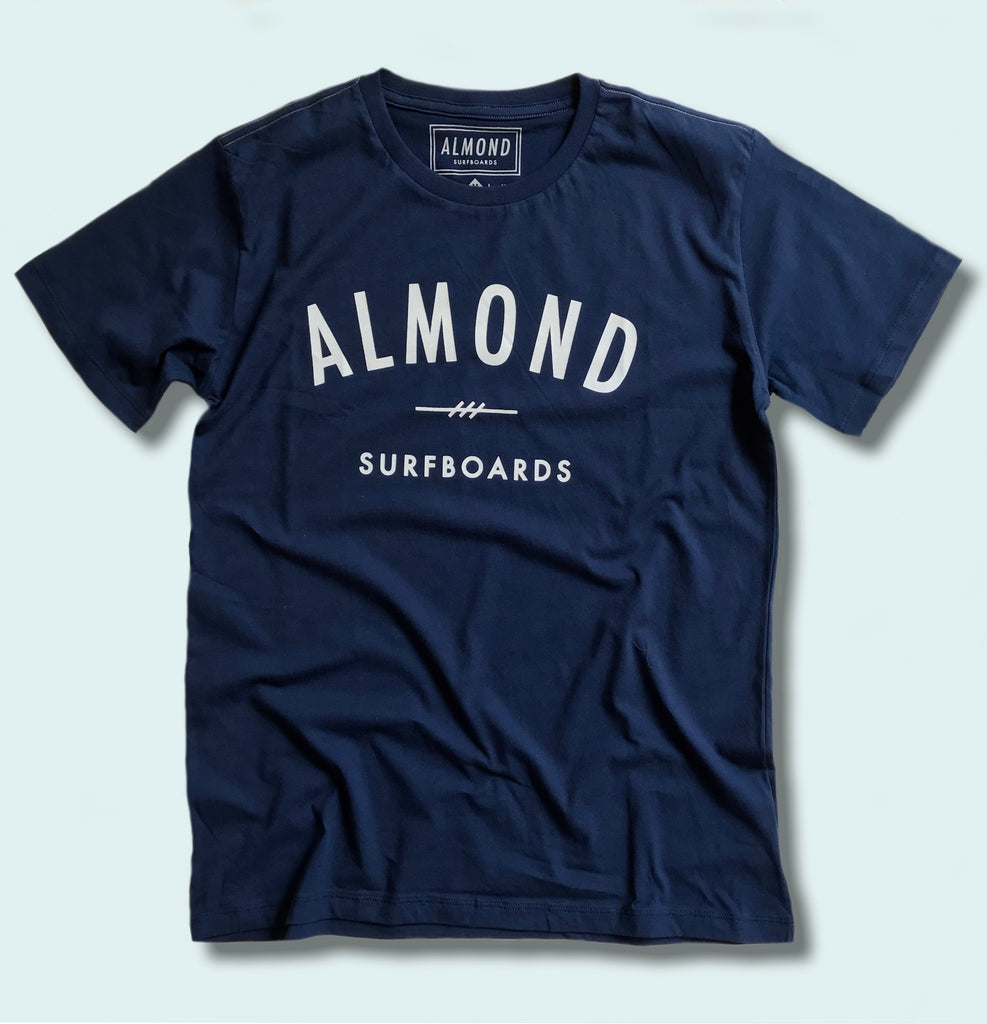 FINE SURFING BOARDS TEE NAVY