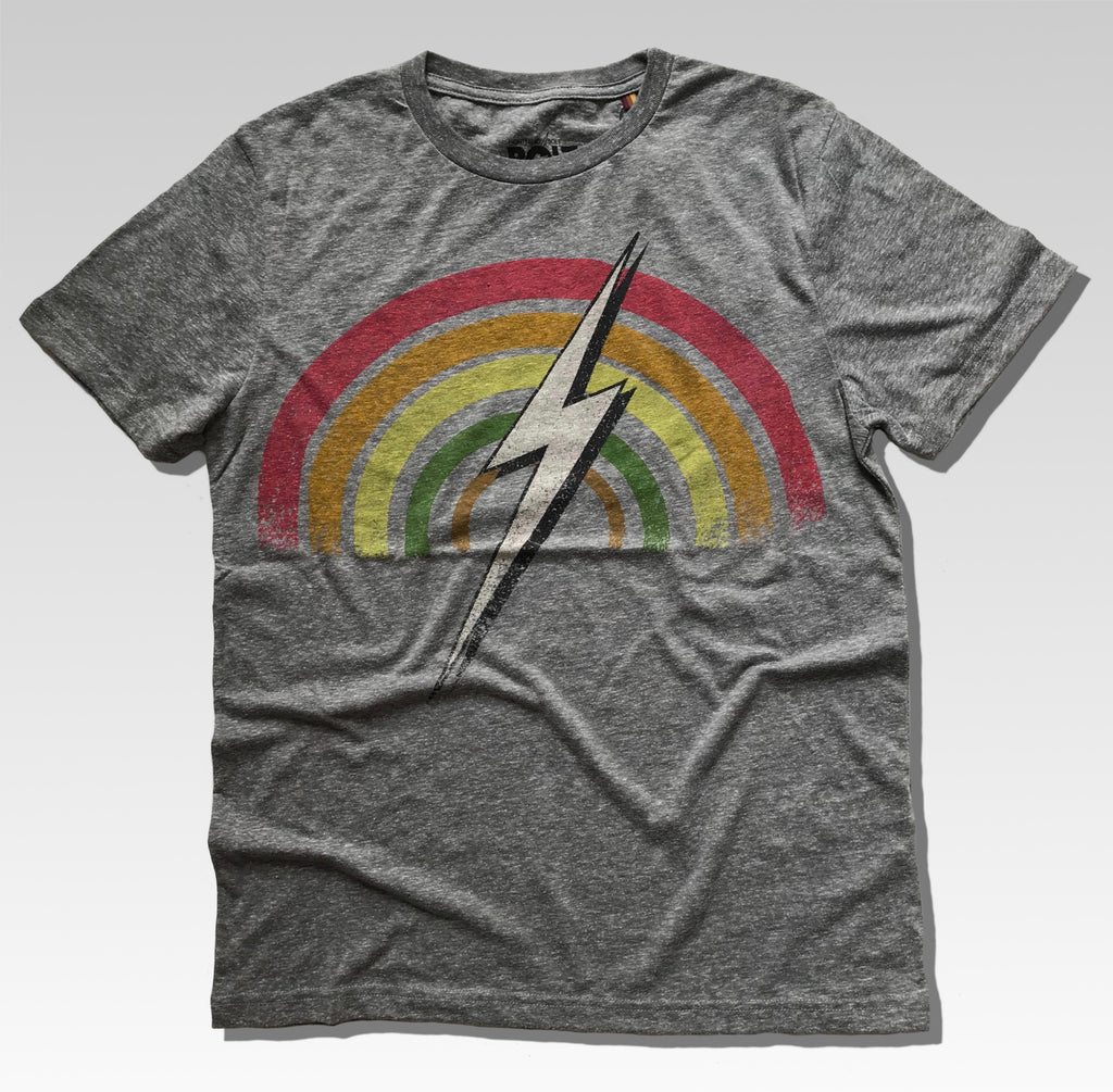 RAINBOW TEE DARK GREY MELANGE