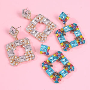 Square Crystal earrings