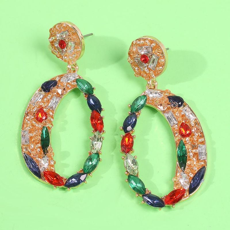 Gold Multi color earrings