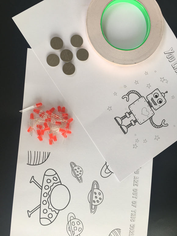 Paper Circuit Lesson Plan - Space Themed